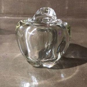 Tiffany and Co, Elsa Peretti crystal apple jam jar